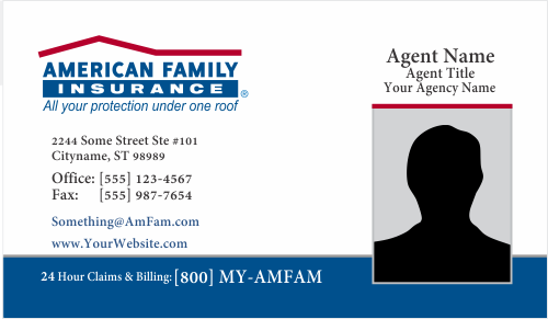 Order American Family Insurance Business Card Templates