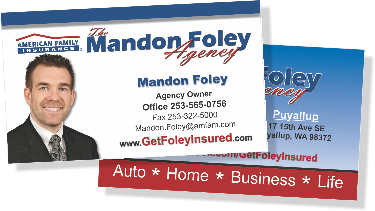 American Family Insurance Business Cards